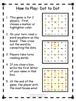 Short Vowel Word Families Phonics Game: Dot to Dot