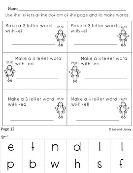 Short Vowel Word Families Printables: Valentine's Day