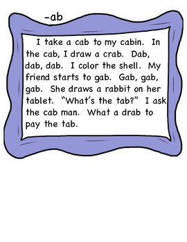 Short Vowel Word Families-Silly Stories