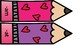 Short Vowel Word Families Valentine Match-Ups; Valentine's Day Rhyming
