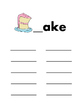 Long Vowel Word Families: Word Work Mats, Centers:  23 pg Printable Projectable