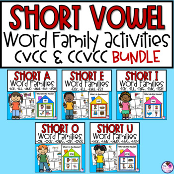 Short Vowel Word Families Word Work and Activities **BUNDLE**