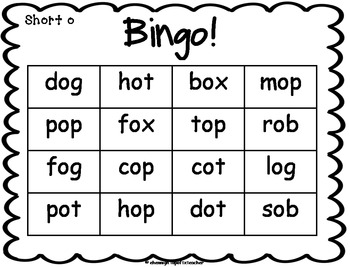 Short Vowel Word Family Activities