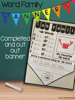 Short Vowel Word Family Banners