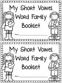 Short Vowel Word Family Booklet