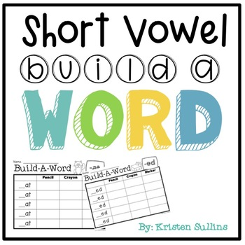 Short Vowel Word Family Build A Word Station