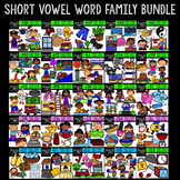 Short Vowel Word Family Bundle {Creative Clips Digital Clipart}