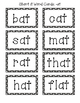 Short Vowel Word Family Cards & Sorts