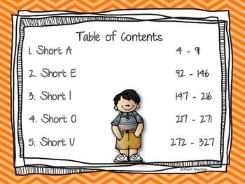 Short Vowel CVC Word Family Centers Bundle {Common Core Aligned}