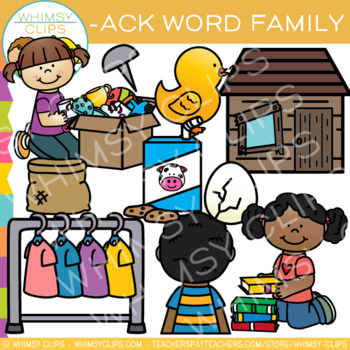 Short Vowel Word Family Clip Art - ACK Words