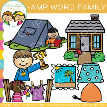 Short Vowel Word Family Clip Art   -AMP Words