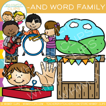 Short Vowel Word Family Clip Art  -AND Words