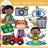Short Vowel Word Family Clip Art  -ASH Words