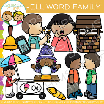 Short Vowel Word Family Clip Art   -ELL Words