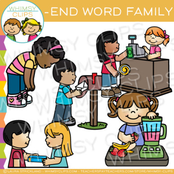 Short Vowel Word Family Clip Art - END Words
