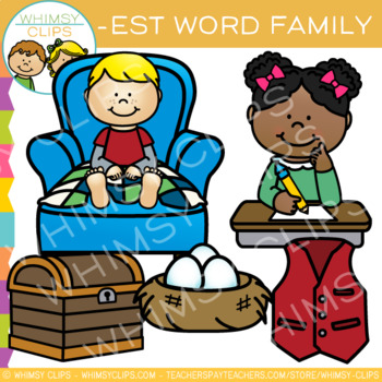 Short Vowel Word Family Clip Art   -EST Words