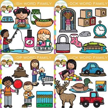 Short Vowel Word Family Clip Art Bundle