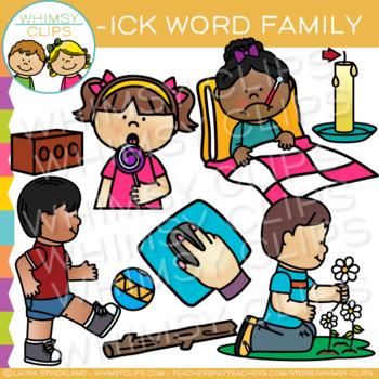 Short Vowel Word Family Clip Art - ICK Words