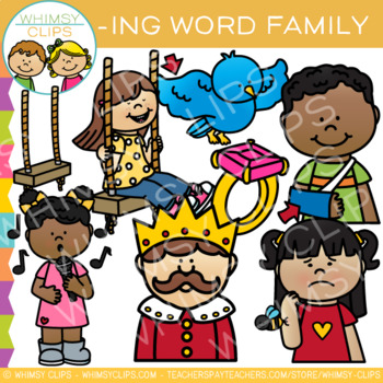 Short Vowel Word Family Clip Art  -ING Words