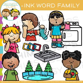Short Vowel Word Family Clip Art -INK Words