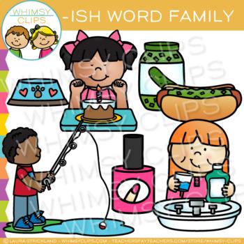 Short Vowel Word Family Clip Art   -ISH Words
