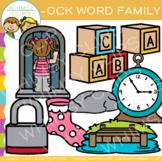 Short Vowel Word Family Clip Art - OCK Words