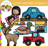 Short Vowel Word Family Clip Art  -UCK Words