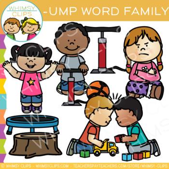 Short Vowel Word Family Clip Art - UMP Words