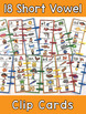 Short Vowel Word Family Clip Cards