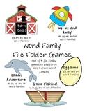 Short Vowel Word Family File Folder Games - Set of 5