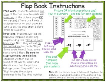Flap Books: Short Vowel Word Families