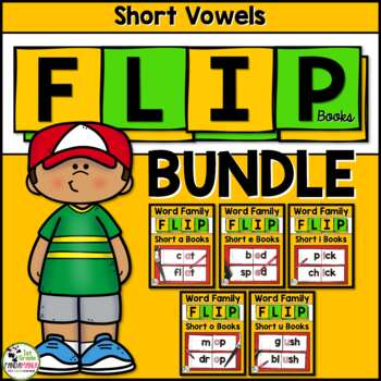 Short Vowel Word Family Flip Books BUNDLE