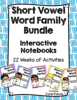 Short Vowel Word Family Interactive Notebooks Mega Bundle