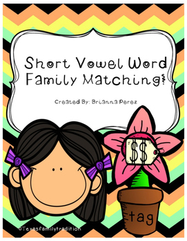 Short Vowel Word Family Matching Bundle