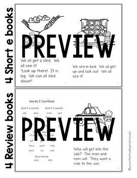 Short Vowel Word Family Phonics Readers