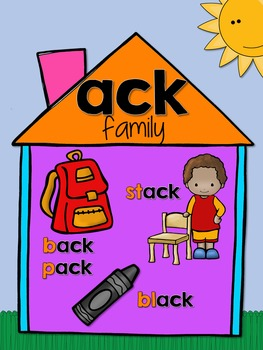Short Vowels Word Family Picture Posters