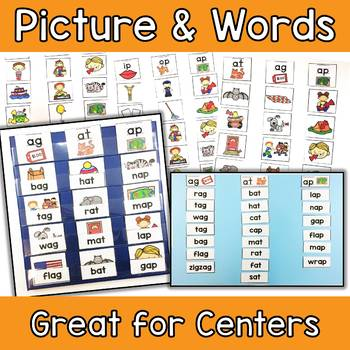 Short Vowel Word Family Picture Sorts