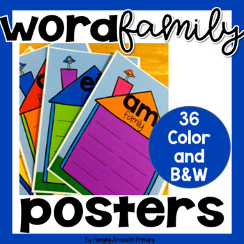 Short Vowels Word Family Posters