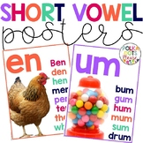 Short Vowel Word Family Posters with Photographs
