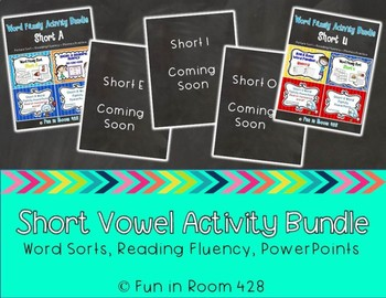 Short Vowel Word Family Practice Bundle