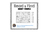 Short Vowel Word Family - Read and Find