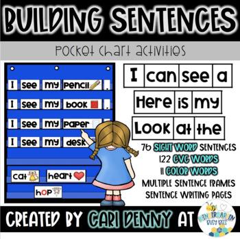 Short Vowel Word Family Sentence Building (BUNDLE)