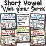 Short Vowel CVC Word Family Sorts -- Sorting Mats and Pocket Charts ***BUNDLE***