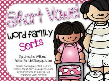 Short Vowel Word Family Sorts