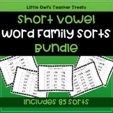 Short Vowel Word Family Sorts- Bundle!