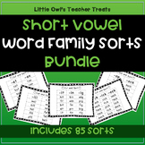 Short Vowel Word Family Sorts- Bundle!