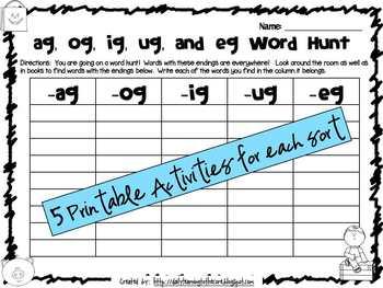 Words Their Way: Alphabetic Spellers Sorts 27-30