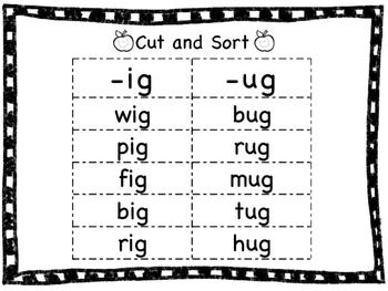 Short Vowel Word Family Sorts- Freebie!