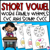 Short Vowel Word Family Wheels 30 Wheels