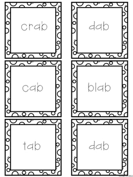 Short Vowel Word Family Word Sorts